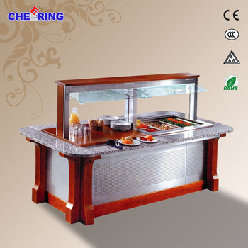 R134a/R404a custom salad bar 2620*760*1700MM counter top salad bar