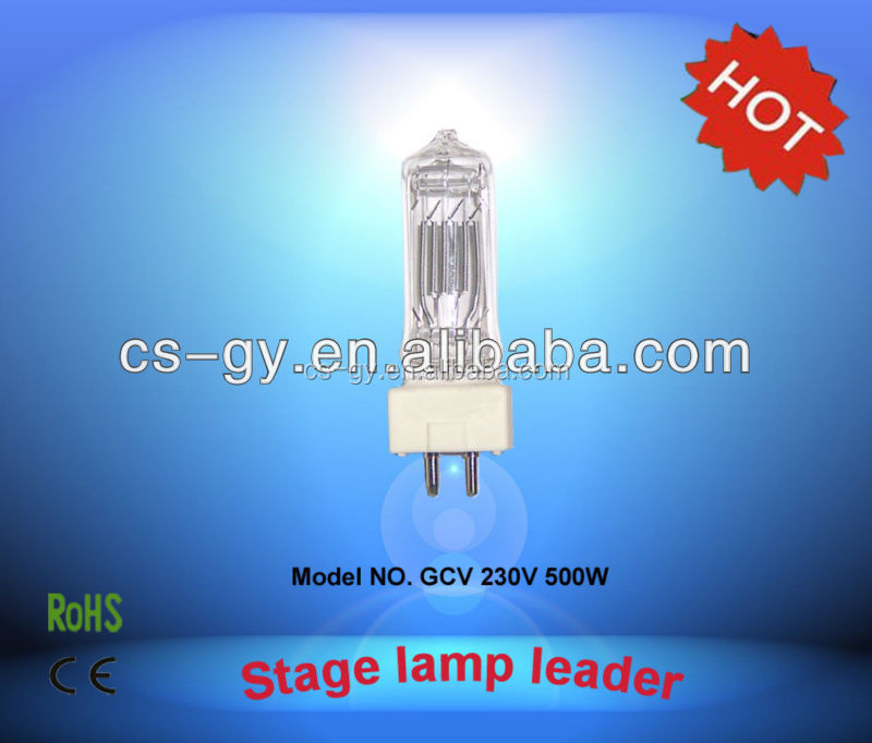 China wholesale 230V 500W ceramic base halogen lamp bulb light GY9.5 GCV