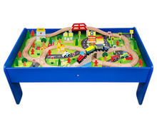 Factory Price Kid Toy Wooden Train Track ,Wooden Railway Set