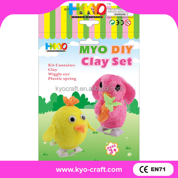 Beautiful colorful DIY clay creative craft activity kit