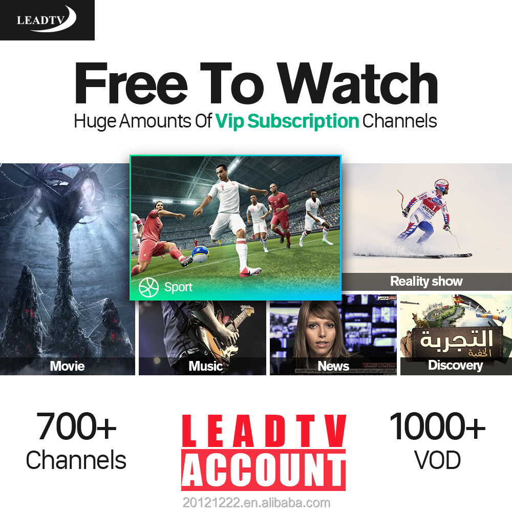 Europe Iptv Tv Box Arabic French Popular HD Live 1000+ VOD Channels Of Leadtv 1Year Account With Sport Music Cartoon