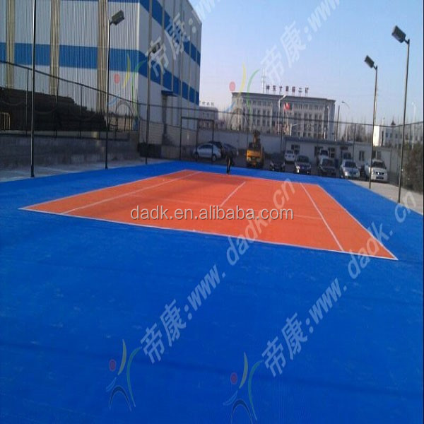 PP anti-slip portable table tennis sport court flooring