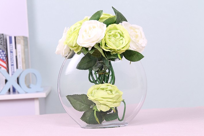 Vintage terrarium glass 20cm vase for flowers