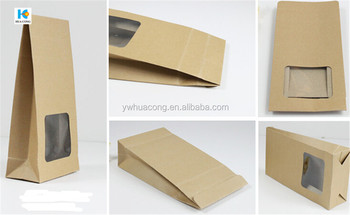 cheapest directly factory custom food paper bag with window