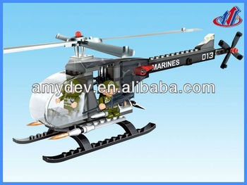 2013 Hot sale 90pcs Building Blocks smaller helicopter