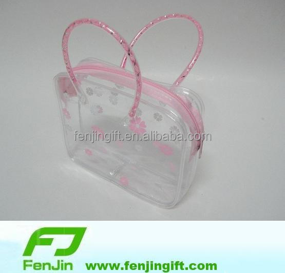 custom brand logo clear plastic jewelry bag