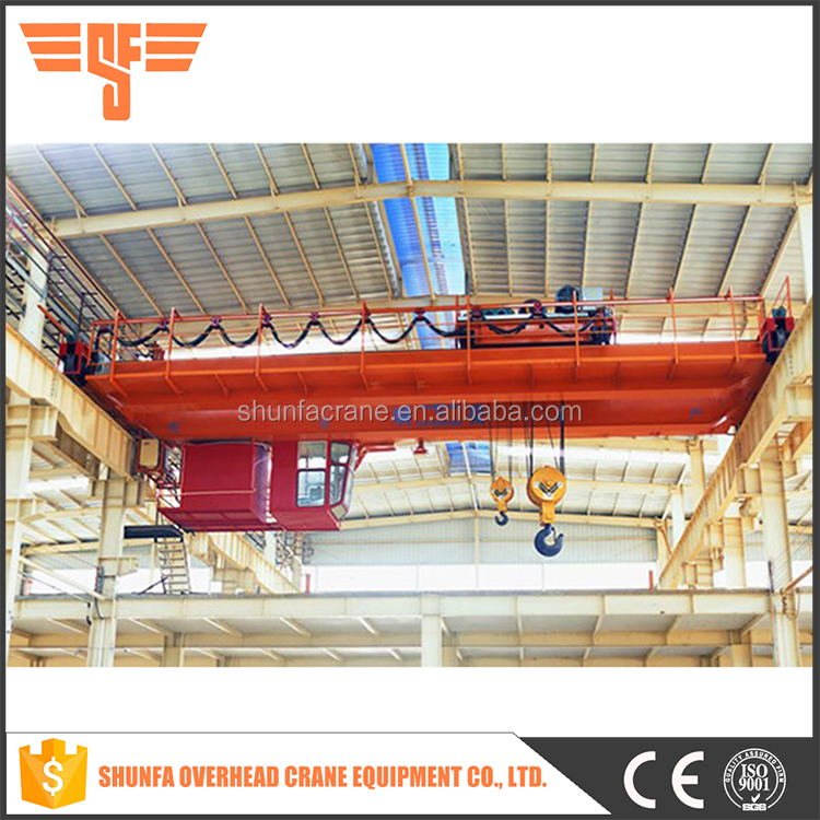 The trolley running on the girder laying orbit double bridge overhead crane