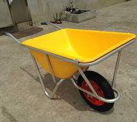 Plastic Tray One-piece Aluminum Frame Garden Wheel barrow