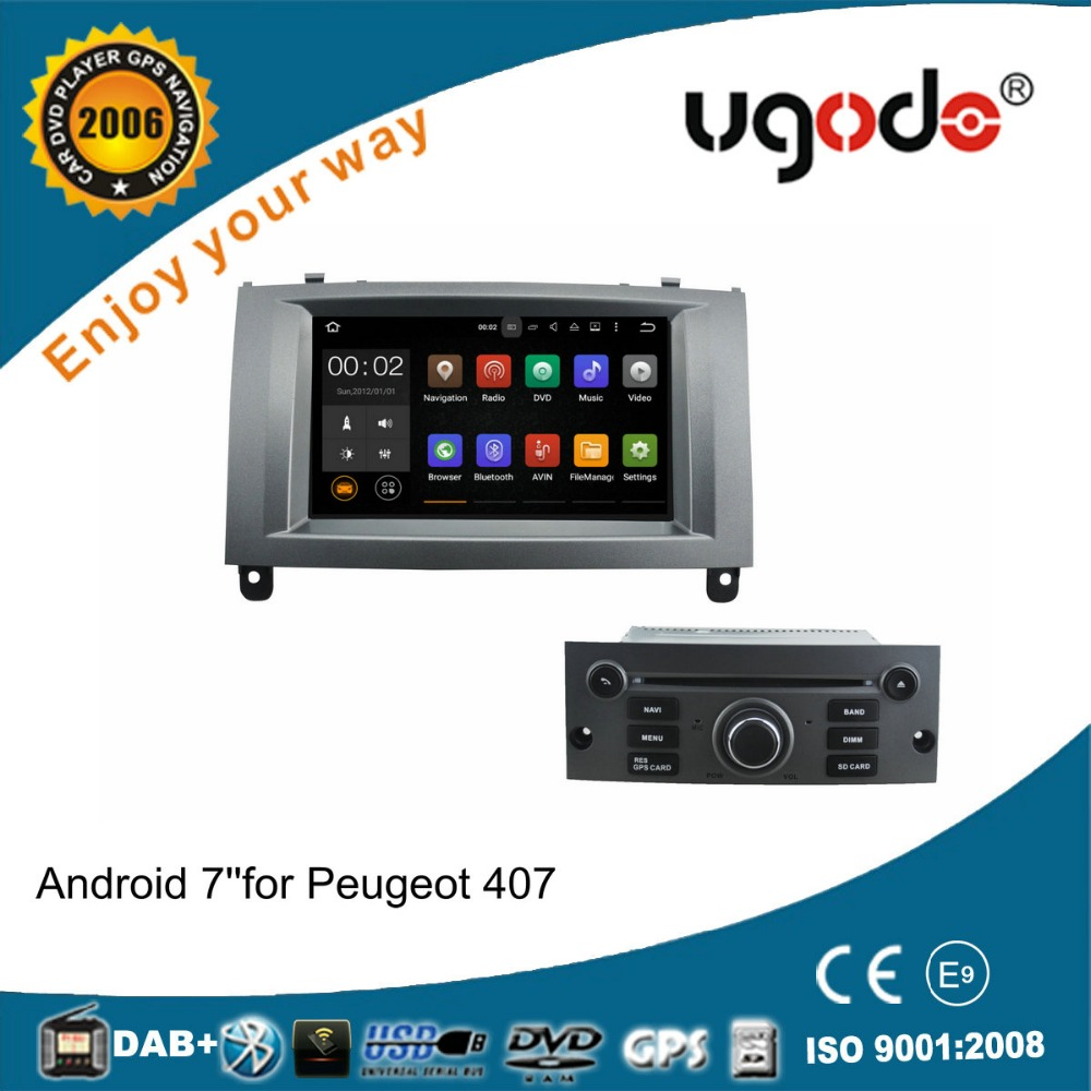 Android 5.1.1 car audio system for Peugeot 407 with dvd gps