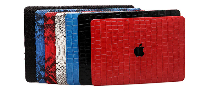 Hot products for Macbook case high quality embossed crocodile  leather laptop case_11