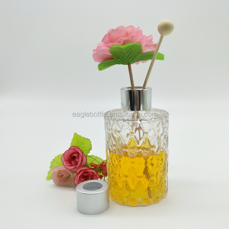 100ml embossed cylindrical aroma diffuser bottles wholesale