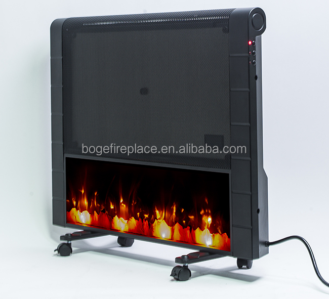 Top Rated Wall Mount Portable Electric Fireplace With Four Wheels