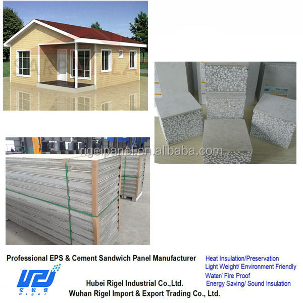 Lightweight waterproof energy saving prefabricated houses using exterior wall cladding