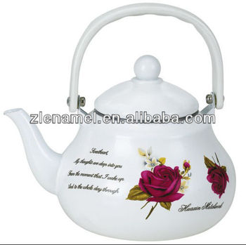 classic enamel tea pot kettle