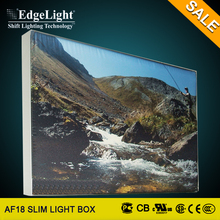 Edgelight Fabric inspection light box billboard for shopping mall and landscape decoration