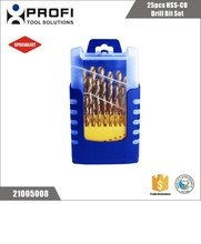 D338 25pcs best cobalt hss twist drill bit set for stainless steel