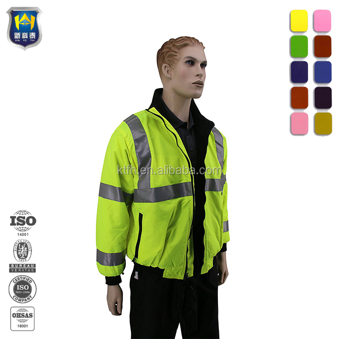 OEM Hi Vis 3M Reflective Workwear Jacket Motorcycle Bomber Suit Uniform