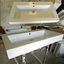 Repairable acrylic retangualr white basin italian wash basin bathroom face basin