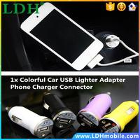 Mini USB bullet Car charger cigarette lighter adapter for Iphone 5 5s 6 plus samsung tablet mobile phone handset free shipping