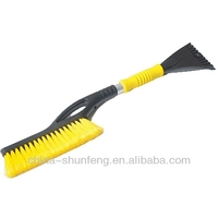 60cm soft PP bristle snow brush for car cleaning with Ice shovel
