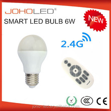Smart led light bulb 5W work Bi-color white and warm white