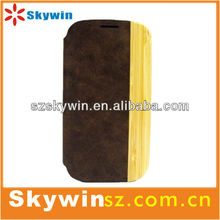 2013 new arrival leather case for samsung galaxy s4