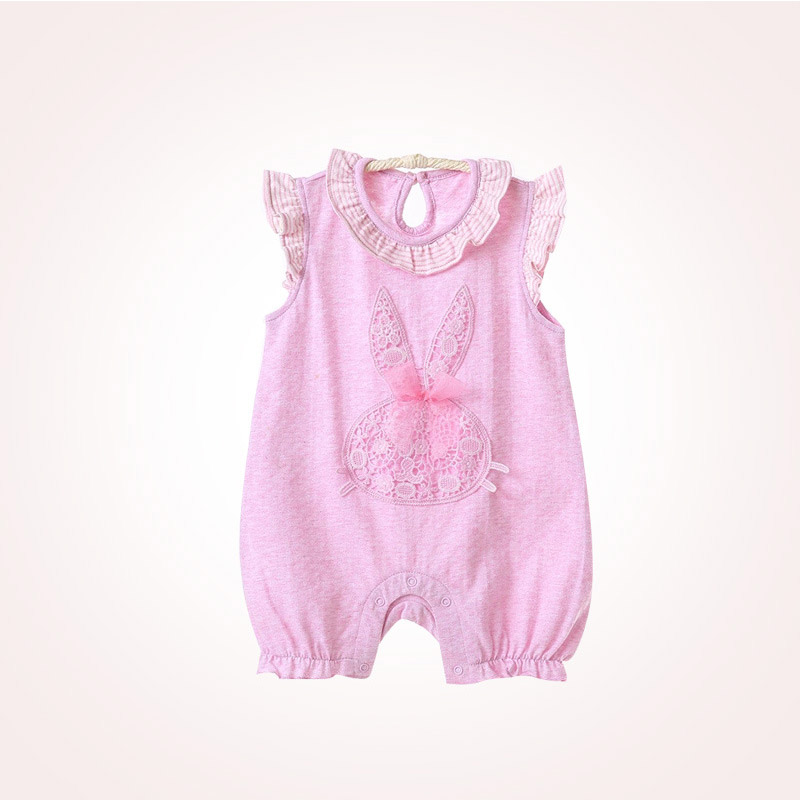 Baby sleeveless thin organic cotton jumpsuit MT105780