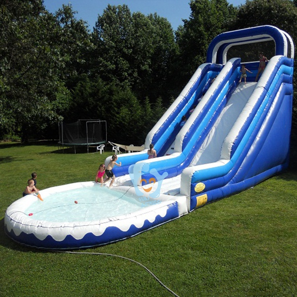 pvc tarpaulin industrial inflatable slip and slide water swimming pool