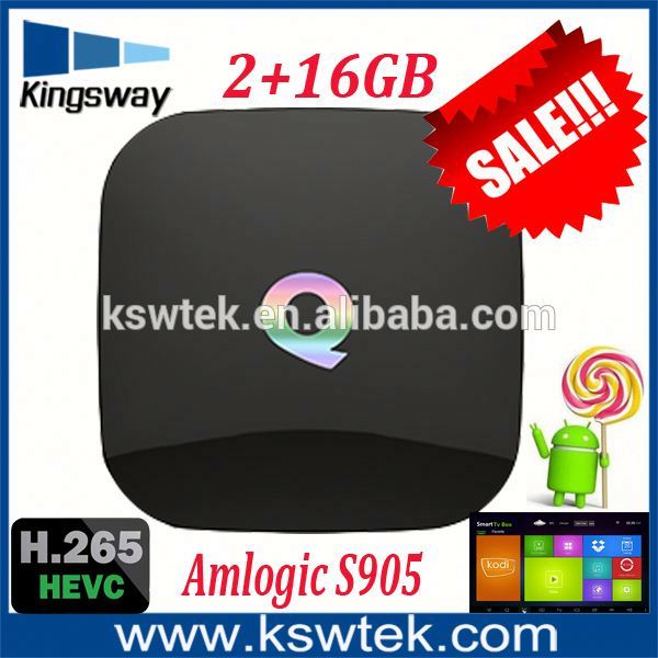 2016 Best selling 1000M WAN amlogic s905 android tv box q