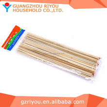 Wholesale High Grade Round BBQ Natural Craft Thin Bamboo Stick