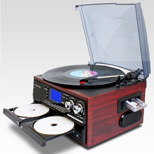 Oem Available audio recordable turntable player with usb cd playing and recording function