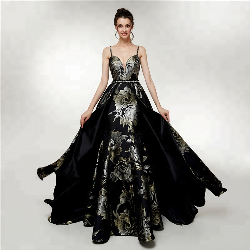 Wholesale black gold evening dresses - Online Buy Best black gold ...