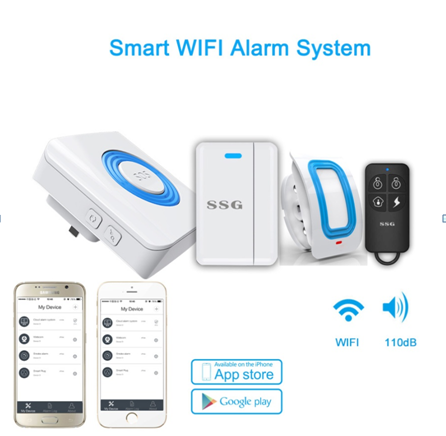 China supplier cheap price Wireless Smart Home wifi Alex accessories alarms echo control Intelligent APP GSM alarms