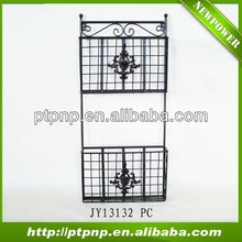 Outdoor and Garden hanging Metal wire 2 tier black plant stand
