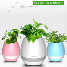 2017 new product mini egg shape bluetooth speaker flower pot with 1200mah battery