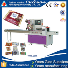 biscuits/cake/bread/chocolate/ice cream packaging machine TCZB-350D
