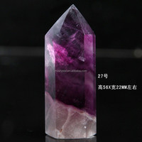 Wholesale Fengshui carved technique purple fluorite crystal point/wand high quality