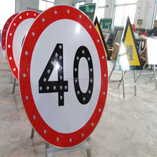 China supplier custom made blinking led solar road sign