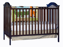 2015 new design baby toddler day bed 100% eco-friendly bamboo Fixed Side Convertible Crib baby cot bed