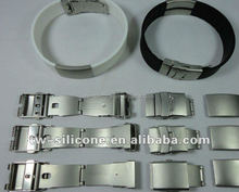Laser Engraved Stainless Steel Buckle Mens Bracelet Fashion Jewelry