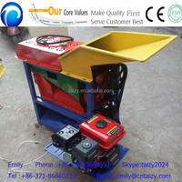 gasoline engine small home use corn threshing and maize shelling machine with wheels