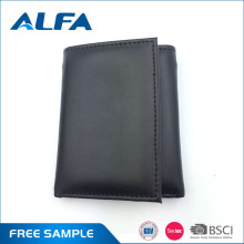 Alfa Best Selling Products Multipurpose Canvas And Pu Leather Trifold Wallet For Men