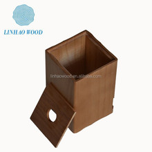 Wooden box open top