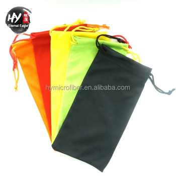 Custom Wholesale Microfiber Drawstring Sunglass Pouch With Print