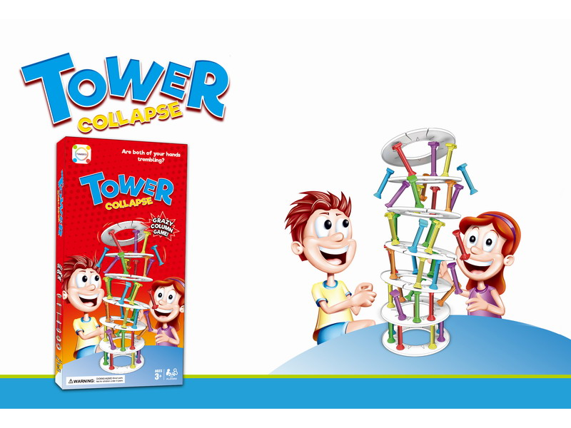 2018 Kids TOWER COLLAPSE Stacking Column Board Games