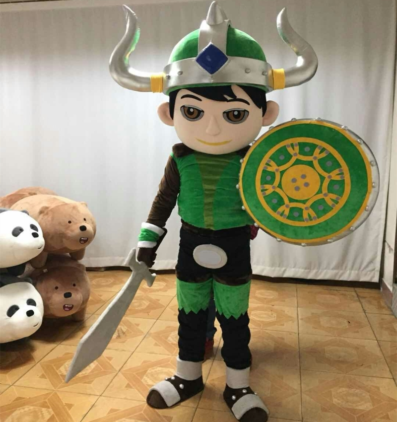 New vikings prince mascot costume/cartoon mascot costume for boy