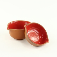 Terracotta Red Color Glaze Deep Fruit <strong>Plate</strong>