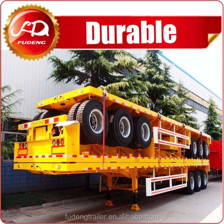 Cheap price 45T flatbed semi trailer platform trailer used to transport the container