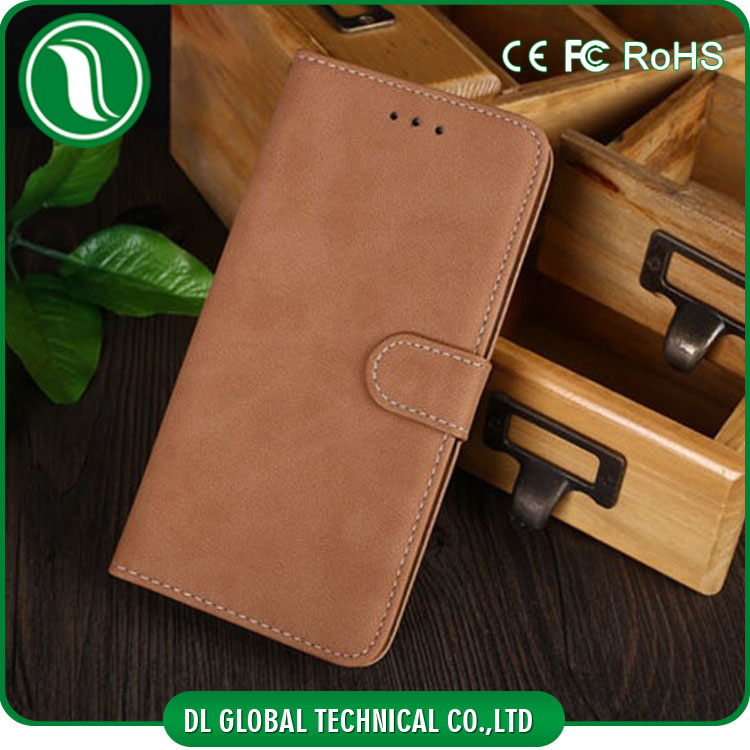 leather mobile flip cover for iphone6 case PU leather case