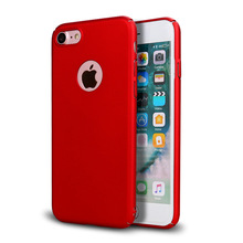 Super Slim Metallic Color Rubber Coated Plastic Hard Case For IPhone 5 6 7 8 X